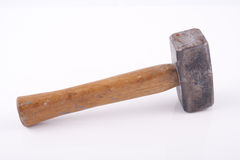 Old used hammer. Isolated on white background Royalty Free Stock Photos