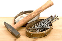 Old used hammer Stock Photography