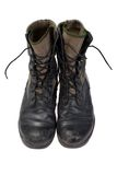 Old used jungle boots vietnam war Stock Photo