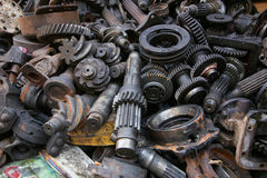Old and Used Machinery Parts Stock Photos