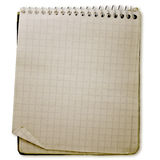Old used notebook Stock Photography