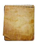 Old used notebook Stock Image
