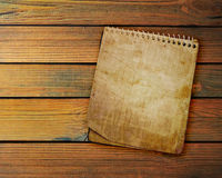 Old used notebook Royalty Free Stock Image