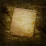 Old used notebook Stock Photo