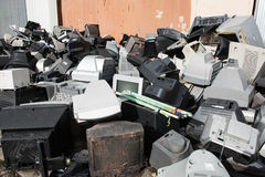 Old used and obsolete electronic equipment Stock Images