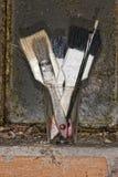 Old used paint brush Stock Image