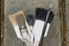 Old used paint brush Stock Images