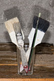 Old used paint brush Royalty Free Stock Photo