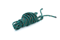 Old used plastic rope Stock Images