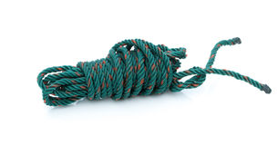 Old used plastic rope Stock Image