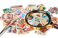 Old used postage stamps Royalty Free Stock Image