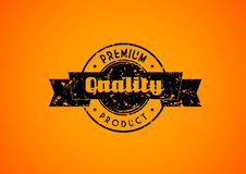 Old used quality badge for your product. Royalty Free Stock Photo