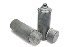Old used spray cans Royalty Free Stock Photo