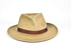 Old used stetson cowboy hat on white Royalty Free Stock Photo