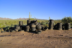 Old used tires Stock Image