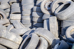 Old used tires Royalty Free Stock Photography