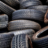 Old used tires Stock Photography