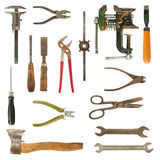 Old used tools collection Stock Image