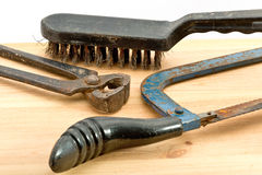 Old used tools Royalty Free Stock Photos