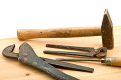 Old used tools Royalty Free Stock Image