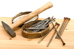 Old used tools Royalty Free Stock Images