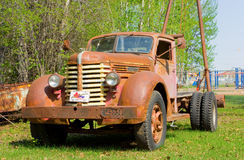 An old, used  truck at an outdoor museum in canada Royalty Free Stock Images