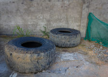 Old Used Truck Tires Royalty Free Stock Image