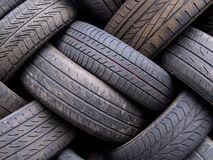 Old Used Tyres Abstract Royalty Free Stock Image