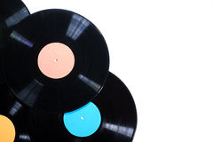 Old used vinyl record Stock Image