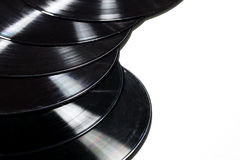 Old used vinyl record. On a white background Royalty Free Stock Images