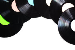 Old used vinyl record Royalty Free Stock Photography