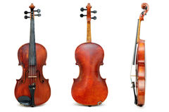 Old used violin view for passport Royalty Free Stock Image