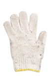 Old used white glove yarn Stock Photo