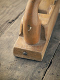 Old used wood plane Royalty Free Stock Photo