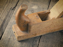 Old used wood plane Stock Photography