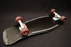 Old Used Wooden Skateboard Stock Photo