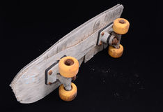 Old Used Wooden Skateboard Royalty Free Stock Photography