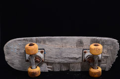 Old Used Wooden Skateboard Royalty Free Stock Images