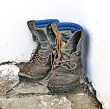 Old Worn Boots. Old used worn out boots Royalty Free Stock Image