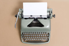 The old used writing machine closeup Royalty Free Stock Photos