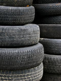 Old Useless Tires Stacked Up Stock Photos