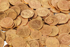 Old USSR coins closeup Royalty Free Stock Photo