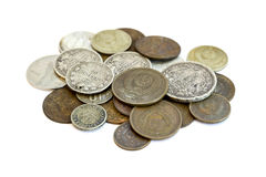 Old USSR money. Matroshka. Rubles Royalty Free Stock Photo