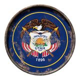 Old Utah flag Stock Photo