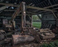 Barn. Old utensils in a barn in Leudal, Netherlands Royalty Free Stock Images