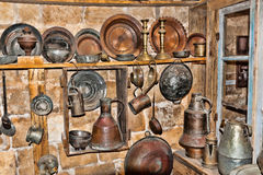 Old utensils in a junk shop Stock Photos