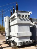Old utility transformer Stock Image