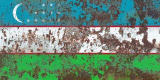 Old Uzbekistan grunge background flag.  royalty free stock photography