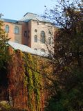 Old Uzhgorod in autumn colors. In sunshine October day Stock Images