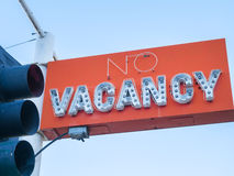 Old Vacancy sign. Old motel vacancy sign and traffic light stock photo